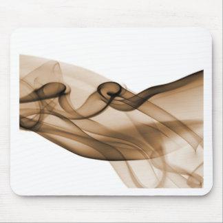 Orange Sepia Wave Mouse Pad