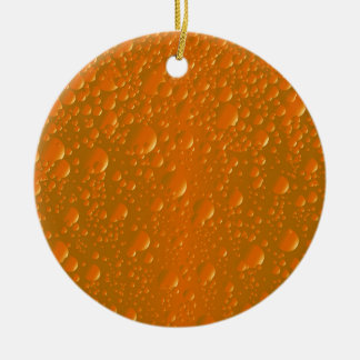 Orange Shade Bibble Background Round Ceramic Decoration