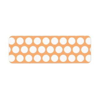 Orange Sherbet and White Polka Dots