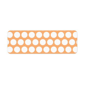 Orange Sherbet and White Polka Dots Return Address Label