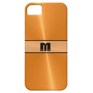 Orange Shiny Stainless Steel Metal 5 Barely There iPhone 5 Case