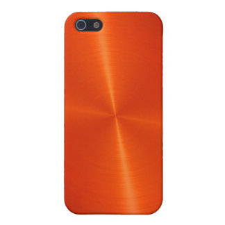 Orange Shiny Stainless Steel Metal iPhone 5/5S Cases