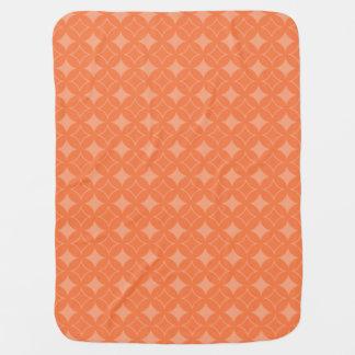 Orange shippo pattern pramblankets