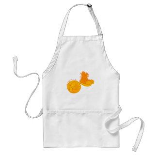 Orange shoes & ball standard apron