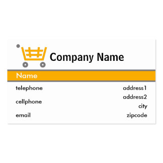 Orange Shopping Trolley Card Design Pack Of Standard Business Cards