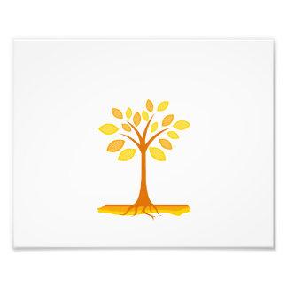 orange simple leaf tree graphic.png photo print