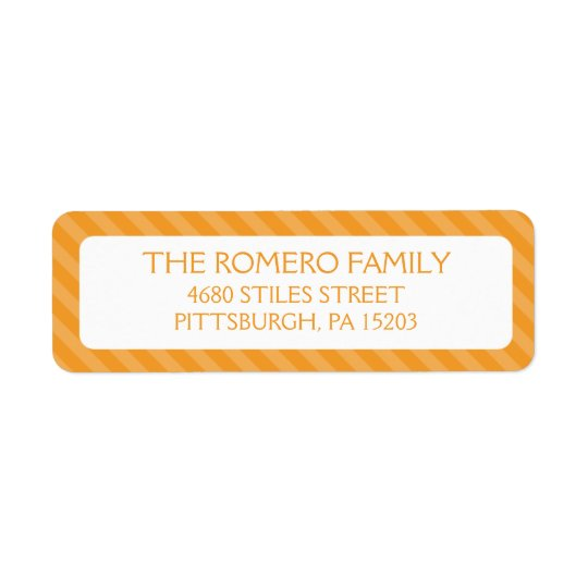 Orange Simple Stripes Custom Personalised