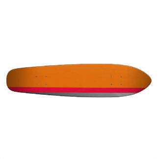 Orange skateboard