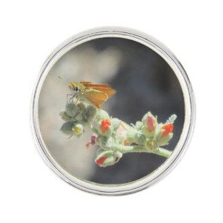 Orange Skipperling Butterfly Lapel Pin