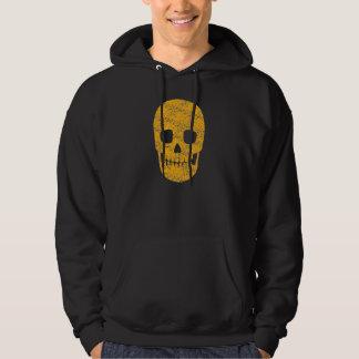 Orange Skull - Halloween Hoodie for Men