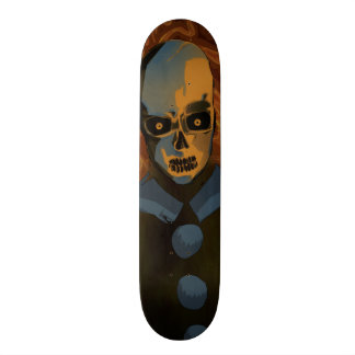 Orange Skull Skate Board Deck