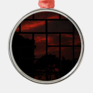 Orange sky in the night christmas ornament