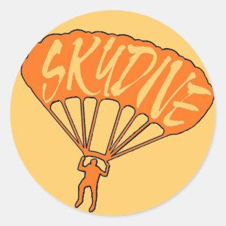 Orange skydive fanatic window stickers