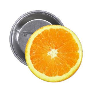 Orange Slice 6 Cm Round Badge