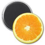 Orange Slice 6 Cm Round Magnet