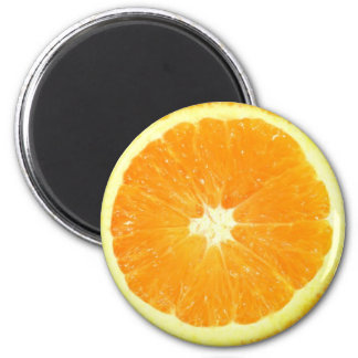 Orange Slice 6 Cm Round Magnet