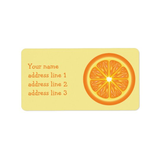 Orange Slice And Custom Address Info Address Label