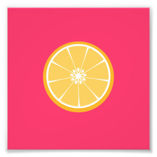 Orange slice art photo
