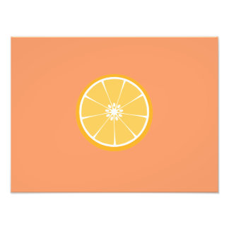 Orange slice art photo
