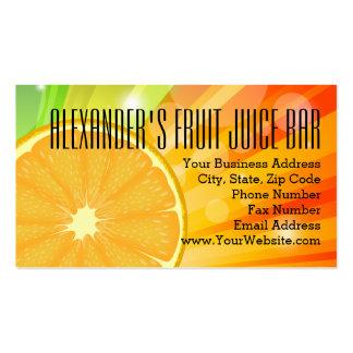 Orange Slice Citrus Fruit Health Juice Smoothie Pack Of Standard Business Cards