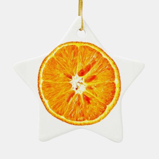 Orange Slice Dble-Sided Star Ornament