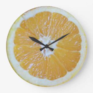 Orange Slice Novelty Wall Clock