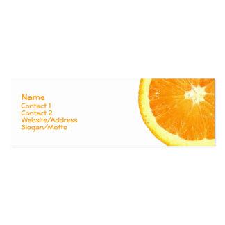 Orange Slice Pack Of Skinny Business Cards