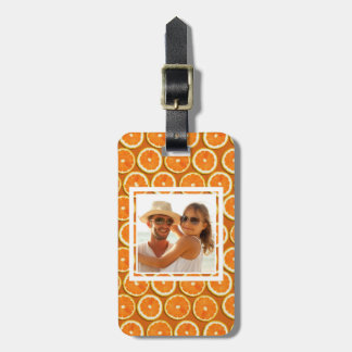 Orange Slice Pattern | Add Your Photo Luggage Tag