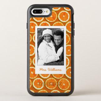 Orange Slice Pattern | Add Your Photo OtterBox Symmetry iPhone 8 Plus/7 Plus Case
