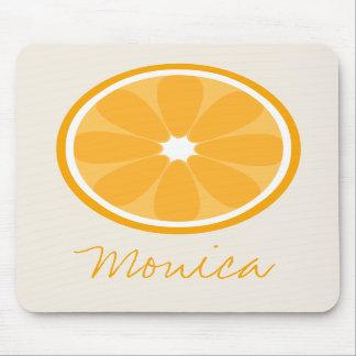 Orange Slice Personalized Mousepad