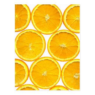 Orange slice postcard