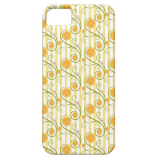 Orange slices and flower with orange stripes iPhone 5 covers