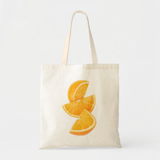 Orange slices budget tote bag