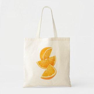 Orange slices budget tote bag