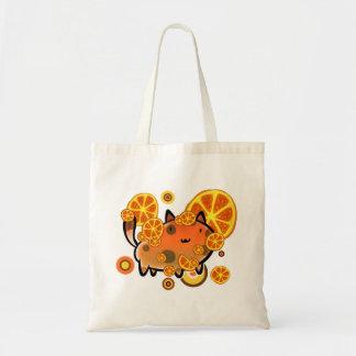 Orange Slices Cat Tote Bag