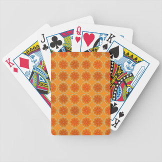 Orange Slices Collage Poker Deck