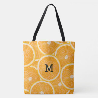 Orange Slices custom monogram bags