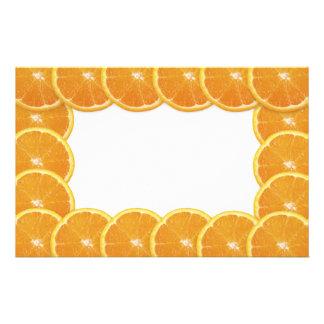Orange Slices Frame Personalized Stationery