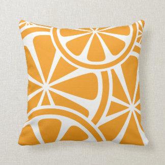 Orange Slices Summer Throw Pillow