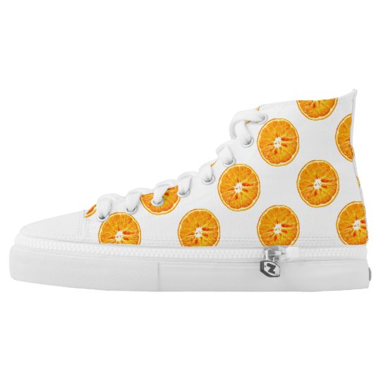 Orange Slices Zipz High Top Shoes