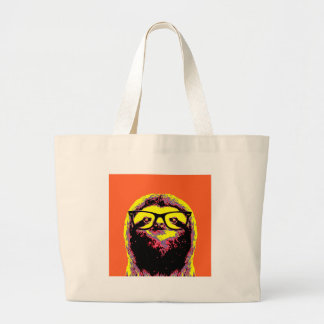Orange Sloth Large Tote Bag