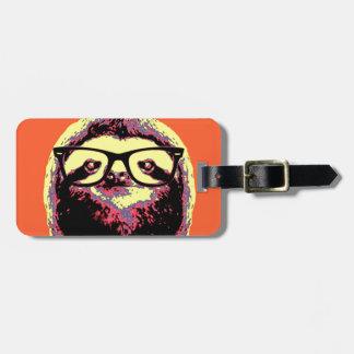 Orange Sloth Luggage Tag