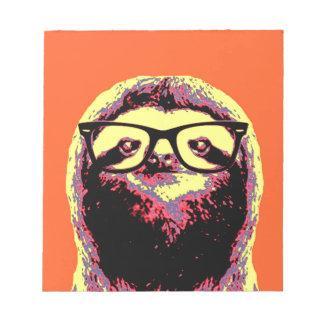 Orange Sloth Notepad