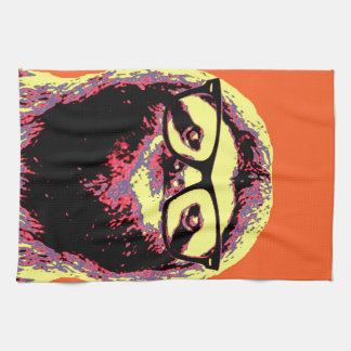 Orange Sloth Tea Towel