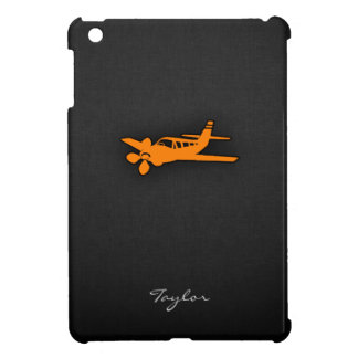 Orange Small Airplane iPad Mini Cover