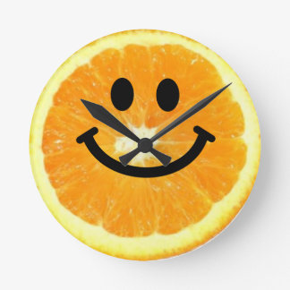 Orange Smiley Face Clock