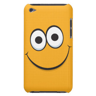 Orange smiley face funny cartoon iPod touch case