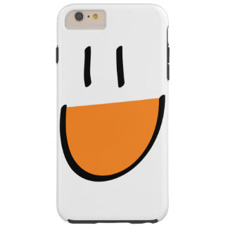 Orange Smiley Face iPhone 6 Plus Case