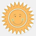 Orange Smiley Happy Sun Sticker
