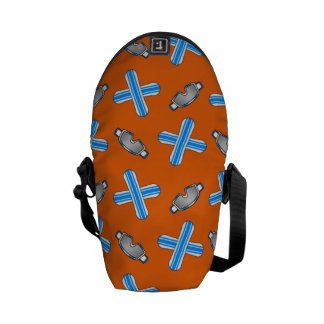 Orange snowboard pattern courier bags